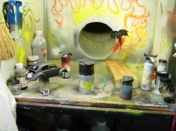 Everything is now sprayed in a black base cote