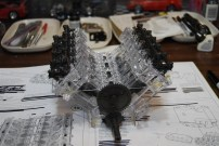 Test fitting the head and upper half of the engine block.