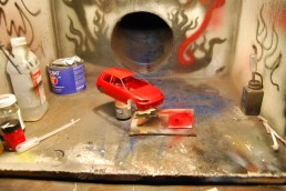 This is the left over red paint that I used to paint my 1:1 Civic.
