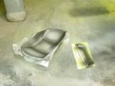Black trim paint.