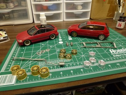 Around this time, I started testing out different wheels. I really wanted something different but didn't have anything that would fit right.