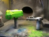 I masked and sprayed Lime green.