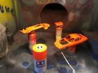 This is only my 3rd attempt at using Tamiya spray paint. I was very pleased by the results.