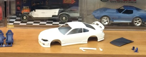 The picture on the box showed the model in white...so I painted it white. Definitely box stock!