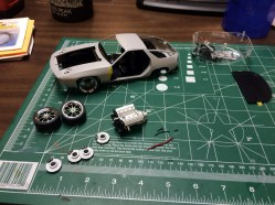 After most of the parts were painted, assembly started moving quickly.