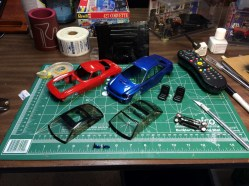 With painted trim, and finished headlight housings, it was time to start assembling bodies.