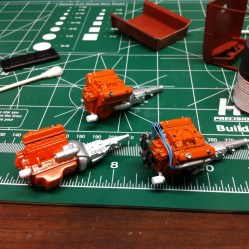 I finished a few more details on the Superbird's engine and set it aside.
