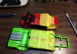 More chassis detail paint.