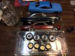 Superbird, Golf, GTX and Coronet wheels painted!
