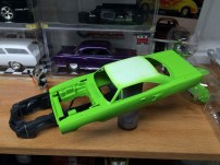 Months later, I sprayed the body with decanted Sublime green paint. I was stunned by how well the paint applied.