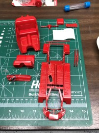 Once I had finished the modifications to the chassis, I stripped all of the original paint.