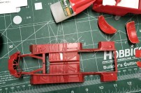 What wasn't repaired with spare parts was filled in with sheet styrene and putty.