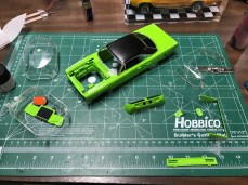 Now that the top was painted, the Superbird was on the fast track to completion!
