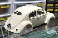 The beetle body was done and ready to be attached to the chassis....which wasn't ready yet.