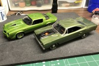The Roadrunner and Camaro are down to the final details.