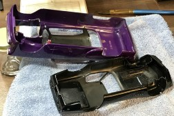 """The only work I did on the body of the Chevy was to paint the headliner and add a rear view mirror. The only reason I added the mirror was to have a place to hang the """"fuzzy"""" dice!"""