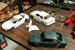 I quickly prepped the body for paint. The mold lines were easy to correct.