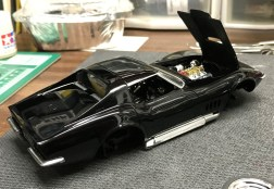Once the interior was complete, I attached the glass, set the interior in place and slipped it onto the chassis.