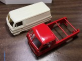 I will try my hand at a resin project with this resin Dodge A100 van body. I picked up a Little Red Wagon kit for the rest of the parts.