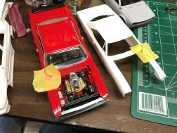 The Superbee was missing panel lines for the fenders. After looking online, I found that the lines are similar to those on the roadrunner. I used my GTX to make templates for the Superbee.