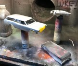 Prior to painting the body in Titanium Silver, I sprayed a base coat of Tamiya gloss aluminum.