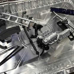 Several parts of the mustang were painted and assembled.