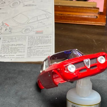 The Alfa came with mesh which really adds to the detail of this build.