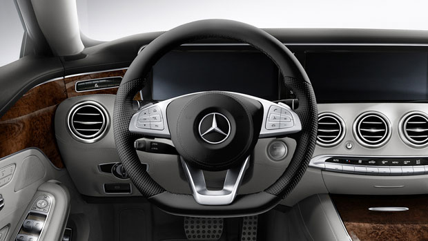 2015-S-CLASS-S550-COUPE-Nappa Leather Steering Wheel Import Export