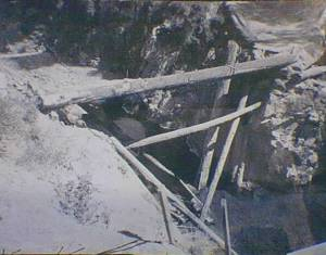 Beartooth mine access bridge collapsed.