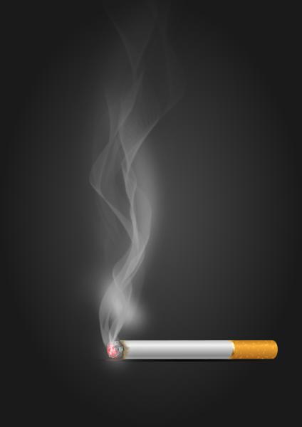 Illustration : fumée de cigarette réalisée avec inkscape