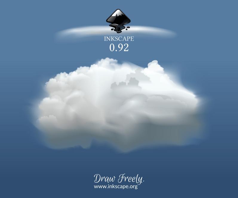 Inkscape nuage avec filet de dégradé
