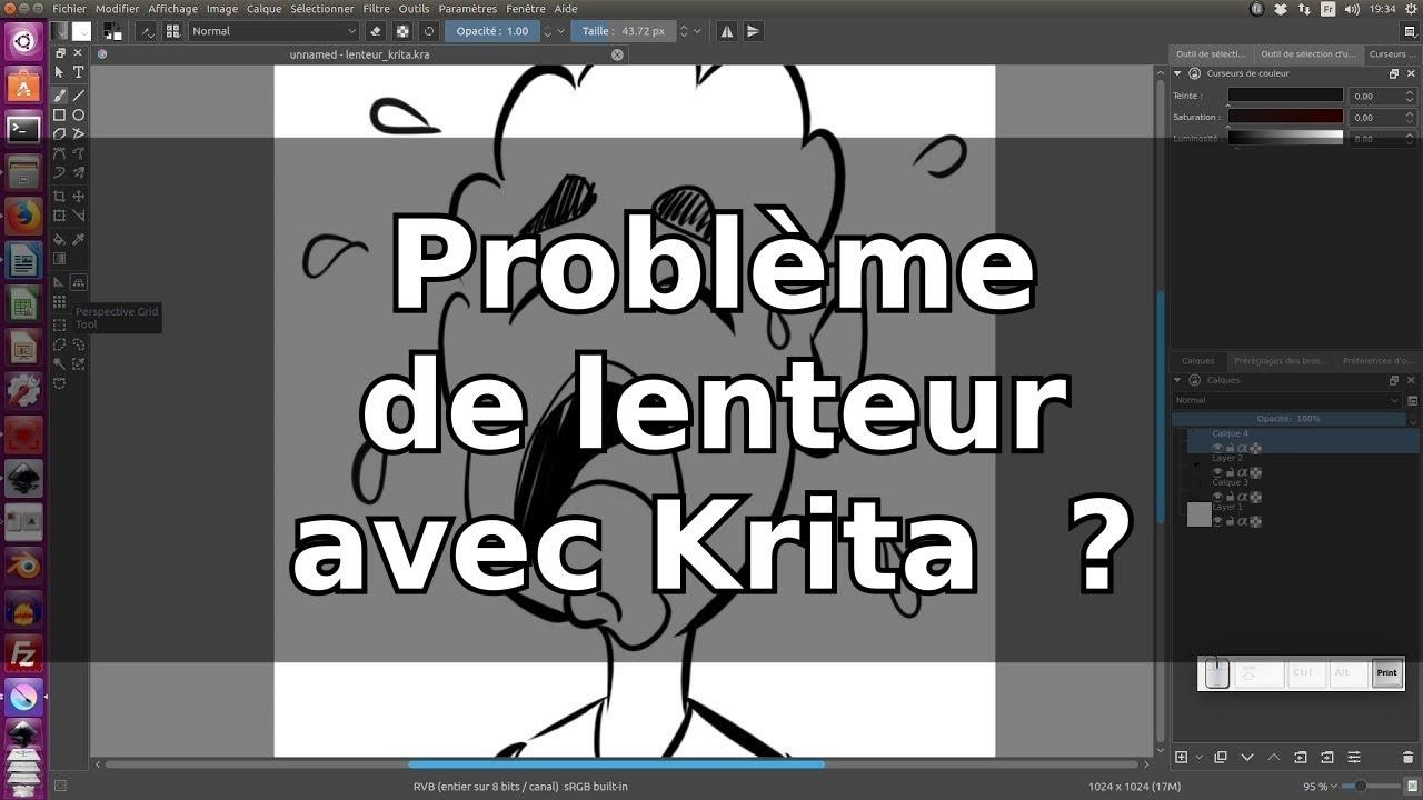 Problème de lenteur avec Krita