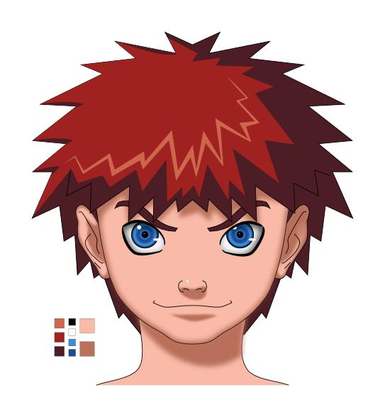 R aliser un visage manga avec inkscape imppao 39 s weblog - Dessin manga visage ...