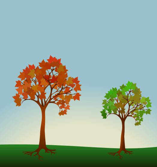 arbres avec inkscape
