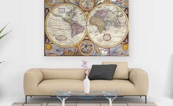 Cuadro Mapa del Mundo modelo Atlante