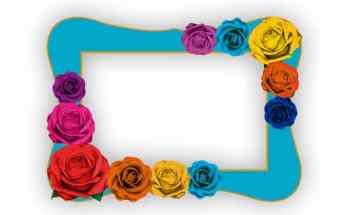 Marco selfie Floral esquinado