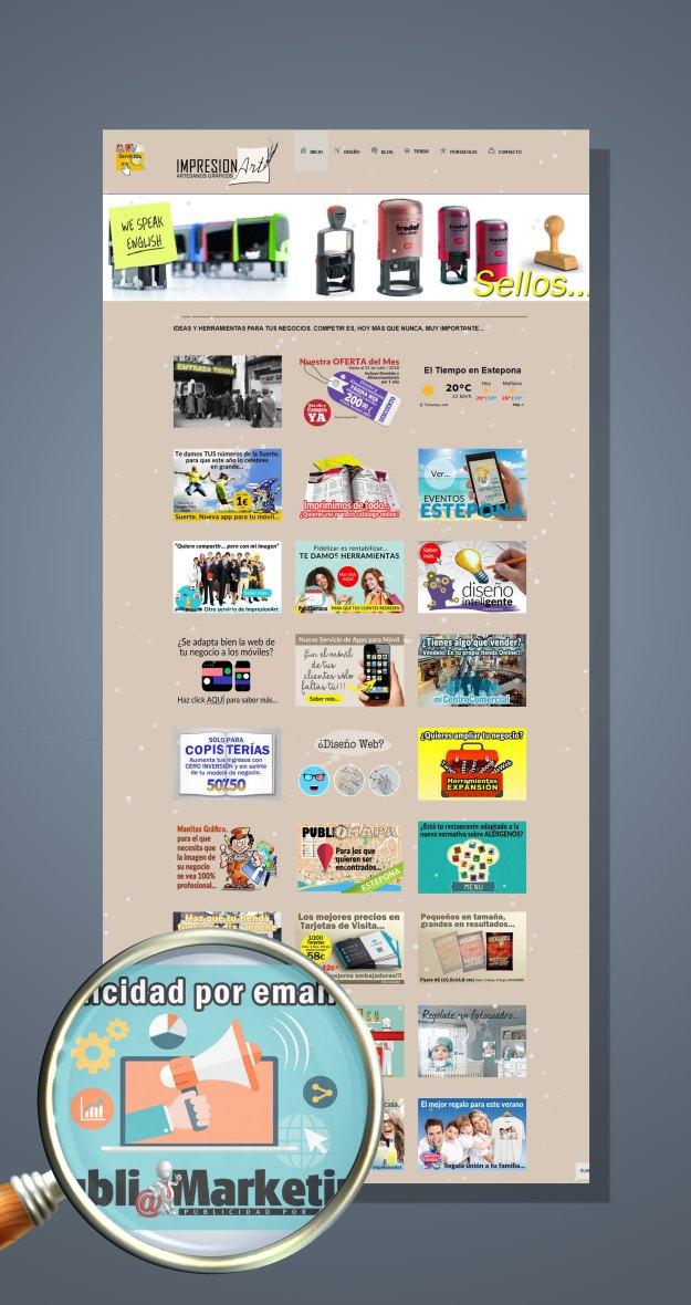 Envía a tus clientes tus ofertas o información por email...