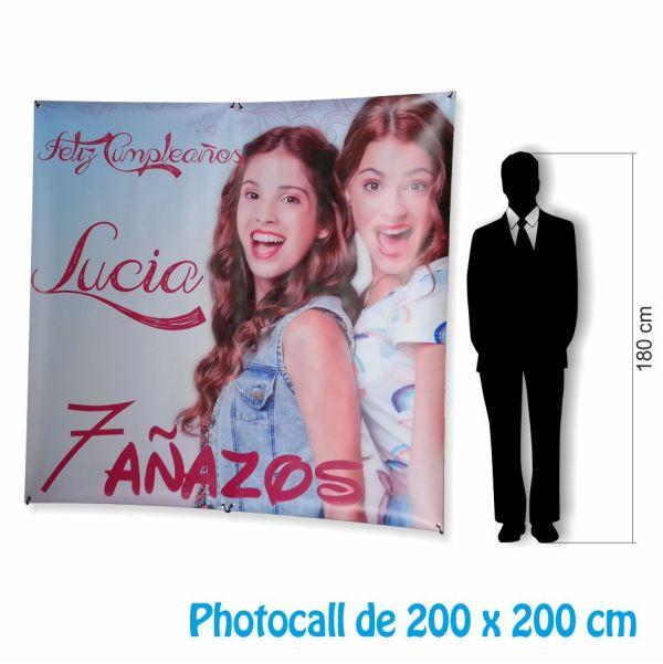 photocall barato 200 x 200 dimension