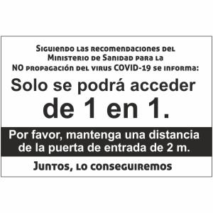 cartel coronavirus acceso