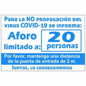 cartel coronavirus aforo