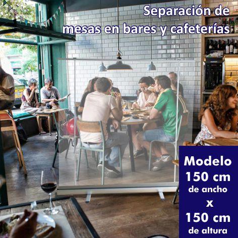 roll up transparente separacion mesas bares cafeterias