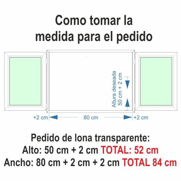 medida plastico ventana