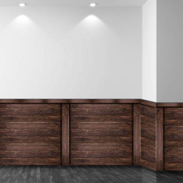 vinilo pared zócalo madera