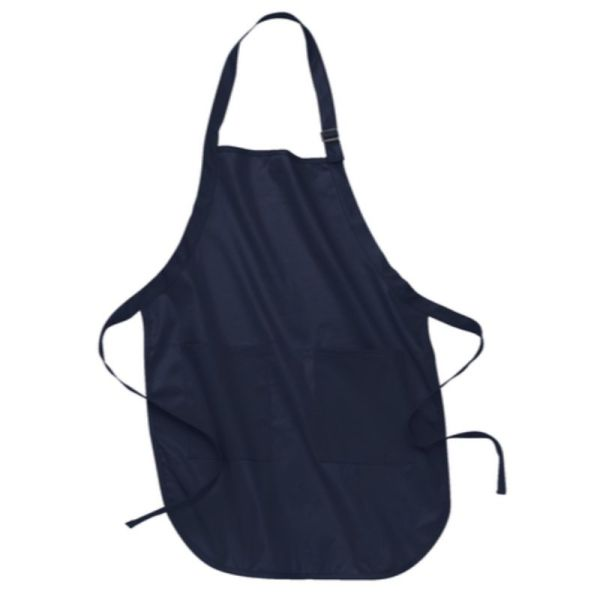 Navy apron with pockets
