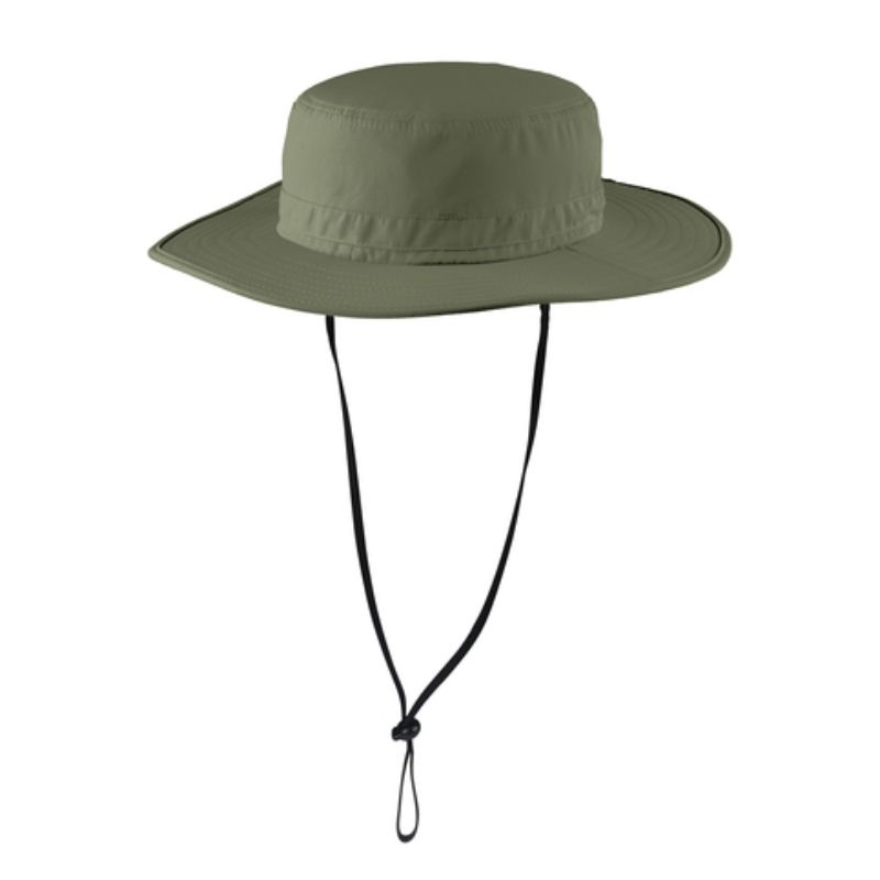 Olive wide brim hat with UV and insect protection