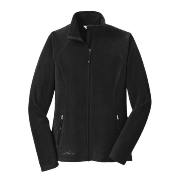 Ladies Full-Zip Microfleece Jacket, Black