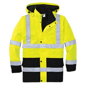 Waterproof Safety Parka, Safety Yellow