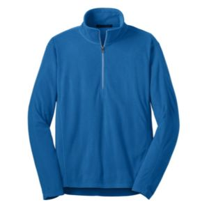 Full zip microfleece jacket, blue