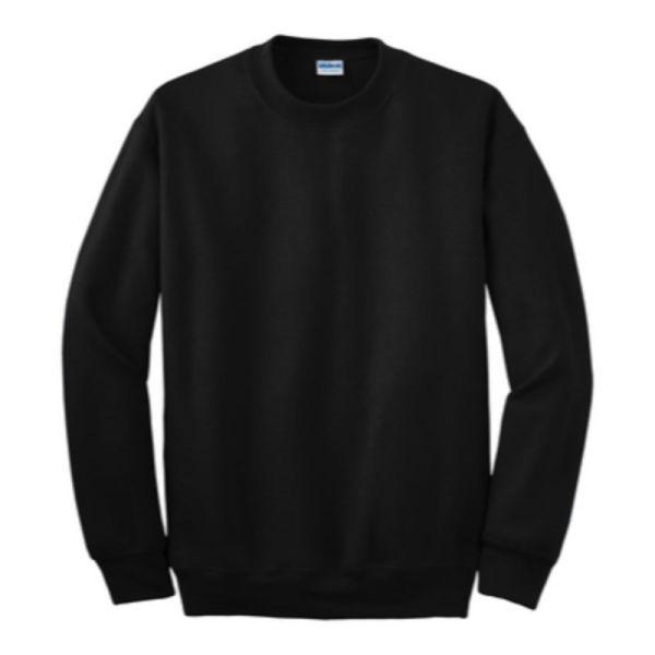 Gildan Crew Neck Sweatshirt, Black