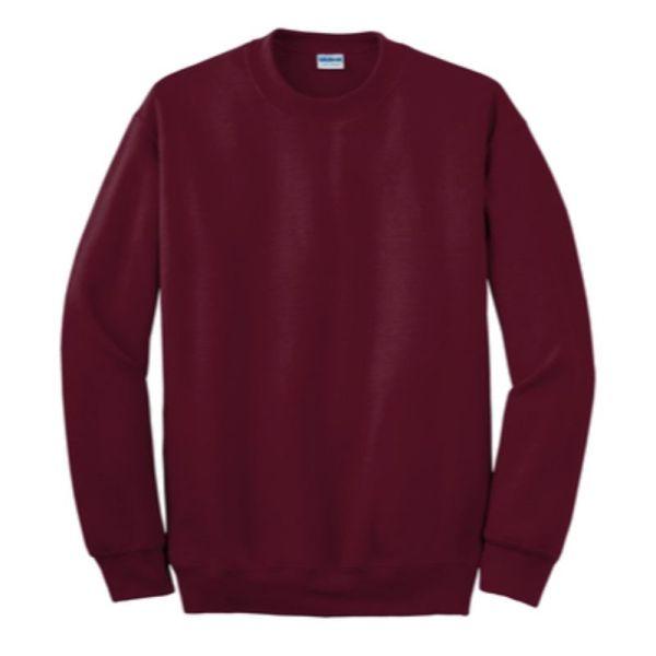 Gildan Crew Neck Sweatshirt, Maroon